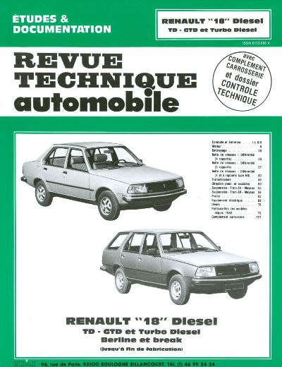 Renault 18 D et TD 1980-86 (RTA415)