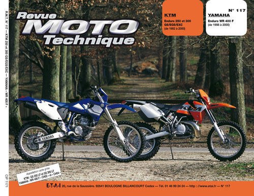 F117 KTM 250/350 1992-00 Yamaha WR 400