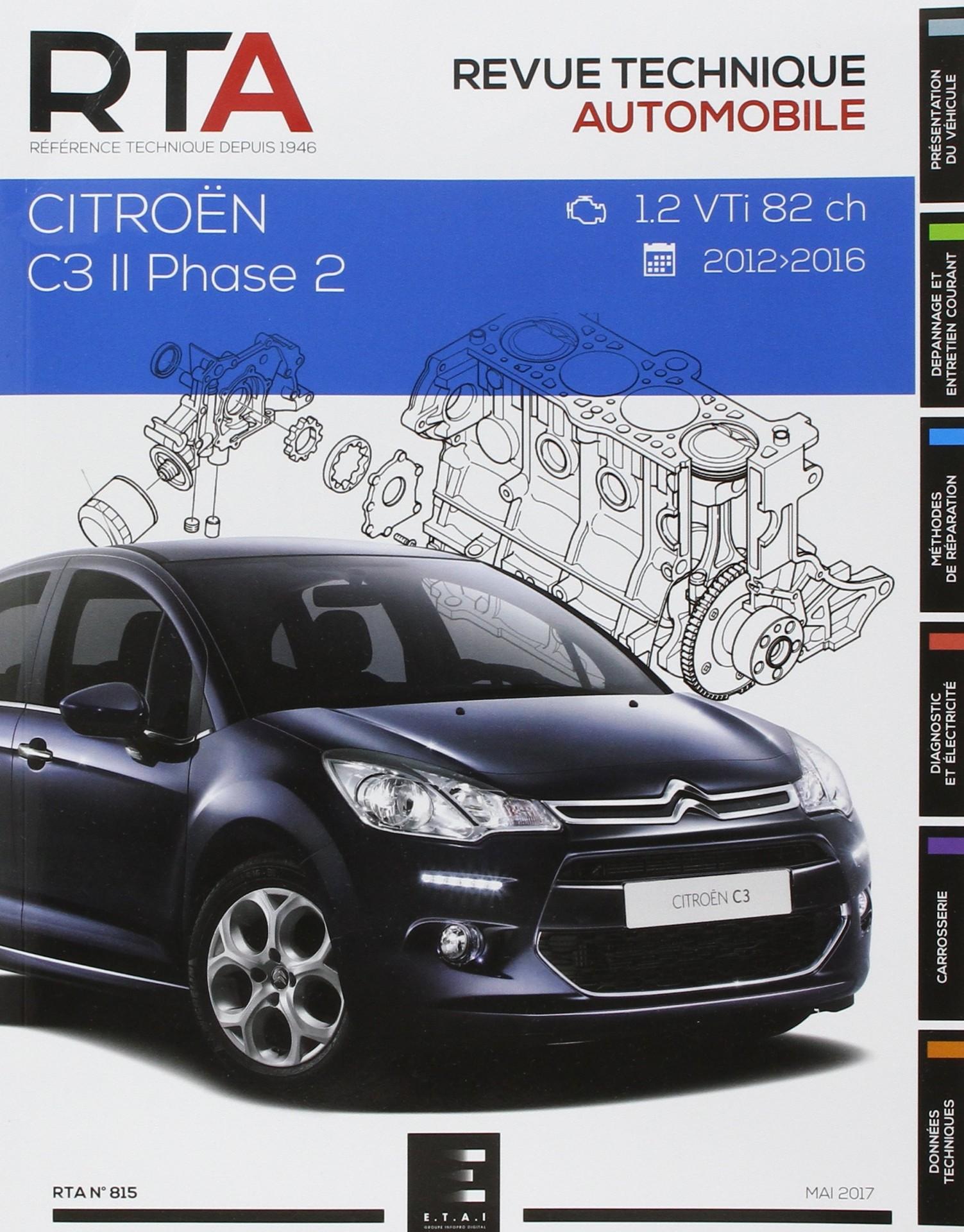 Citroen C3 II Ph.2 1.2i (82 Ch) (2013-2016) RTA815