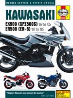 Kawasaki EX 500,GPZ 500, ER 500, ER-5 1987-2005