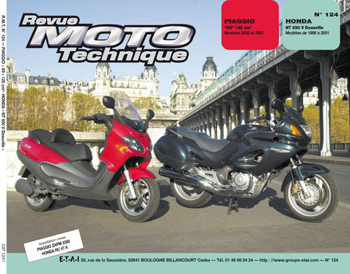 F124 Honda NTV650 Deauville 98-01 Piaggio X9 125