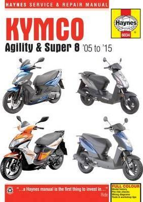 Kymco Agility (05-15) and Super 8 (07-15) Scooters