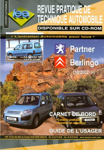 Citroën Berlingo, Peugeot Partner 10/2002 TAP415