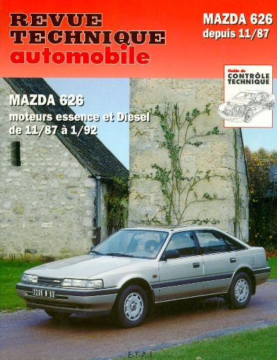 Mazda 626 (exc break e 4X4) Ess/D 1987-92 (RTA528)