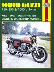Moto Guzzi 750, 850 & 1000 V-Twins 1974-78