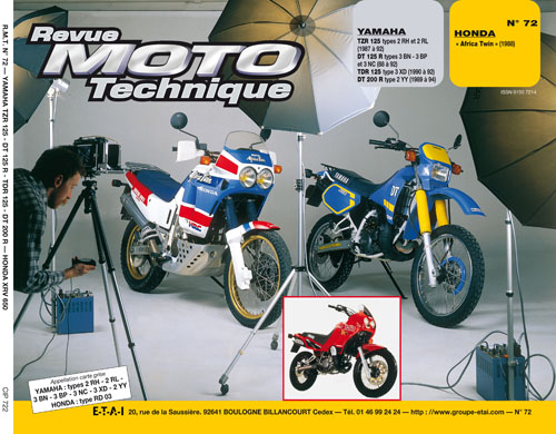 F72 Yamaha 125TZR-DT200 Honda Africa Twin 88-89