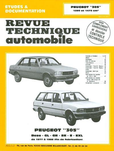 Peugeot 305 GL ( 1978-89 ) & GR/SR -1985 RTA 381