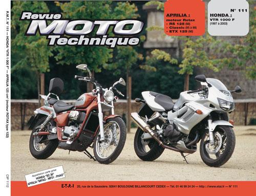 F111 Honda 1100VTR 97-03 Aprilia 125 motor Rotax