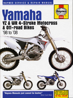 Yamaha YZ & WR 4-stroke Motocross Bikes 98-08