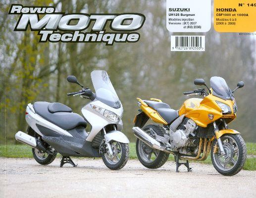 F149 Suzuki UH 125 BURGMAN -Honda CBF 1000&A 07/08