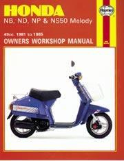 Honda NB, ND, NP & NS50 Melody 1981-85