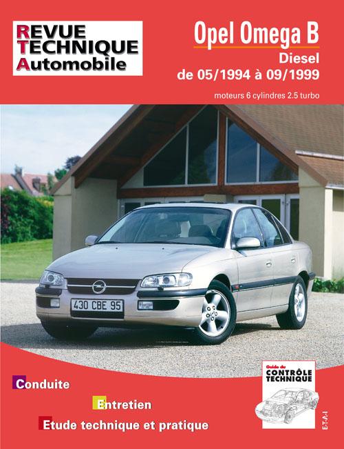 Opel Omega TD 2.5 6 cil jusqu'a 09-1999 (RTA623)