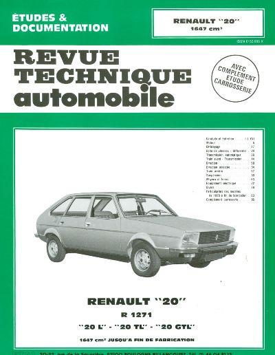 Renault 20 1647cc 1976-82 (RTA362)
