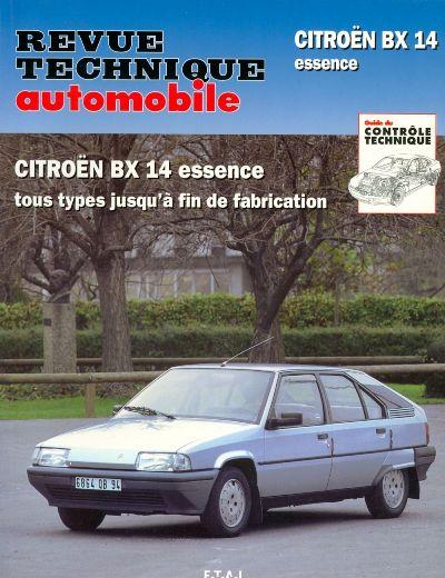 Citroën BX 14 essence jusqu'a fin fabric RTA703