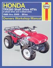 Honda TRX300 Shaft Drive 1988-2000
