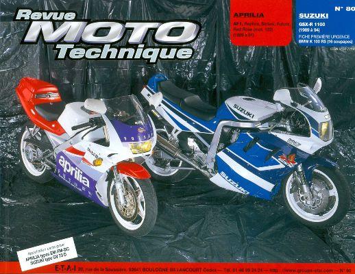 F080 Aprilia 125AF1; Suzuki GSX-R1100 1989-94