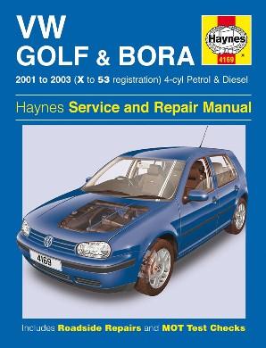 Volkswagen Golf & Bora 2001-03