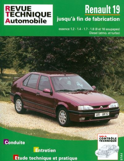 Renault 19 Essence & D 1980-96 (RTA700)