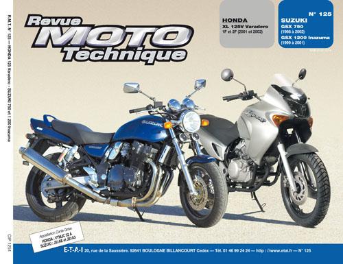 F125Honda XL125V 2001/2 Suzuki GSX750 1200 98-2001