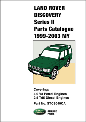 Land Rover Discovery Parts Catalogue 1999-2003
