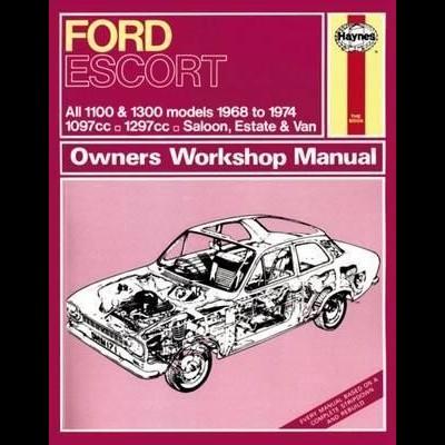 Ford Escort MK I 1.1, 1.3 1968-84