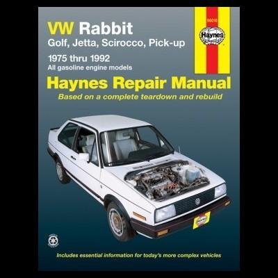 VW Rabbit, Golf, Jetta & Scirocco (75-92)