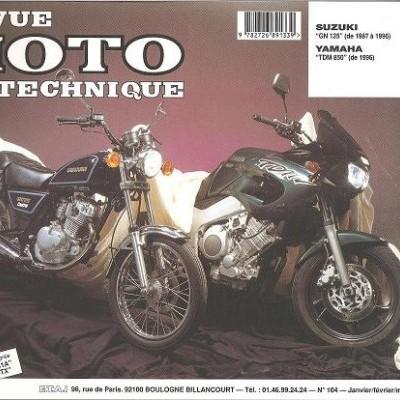F104 Suzuki GN 125 1987-96 Yamaha TDM 850 1996