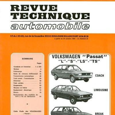 Volkswagen Passat L, S, LS, TS 1973-81 (RTA337)