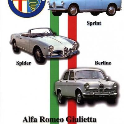 Alfa Romeo Giulietta Berline,Spider,Coupé Manuel R