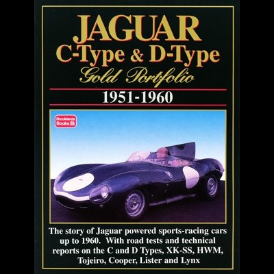 Jaguar C & D Type Gold Portfolio 1951-60