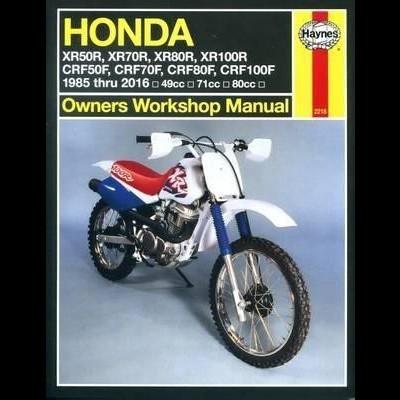 Honda XR50/70/80/100R & CRF50/70/80/100F 1985-16