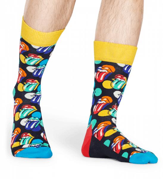 ROLLING STONES PAINT IT BRIGHT SOCK