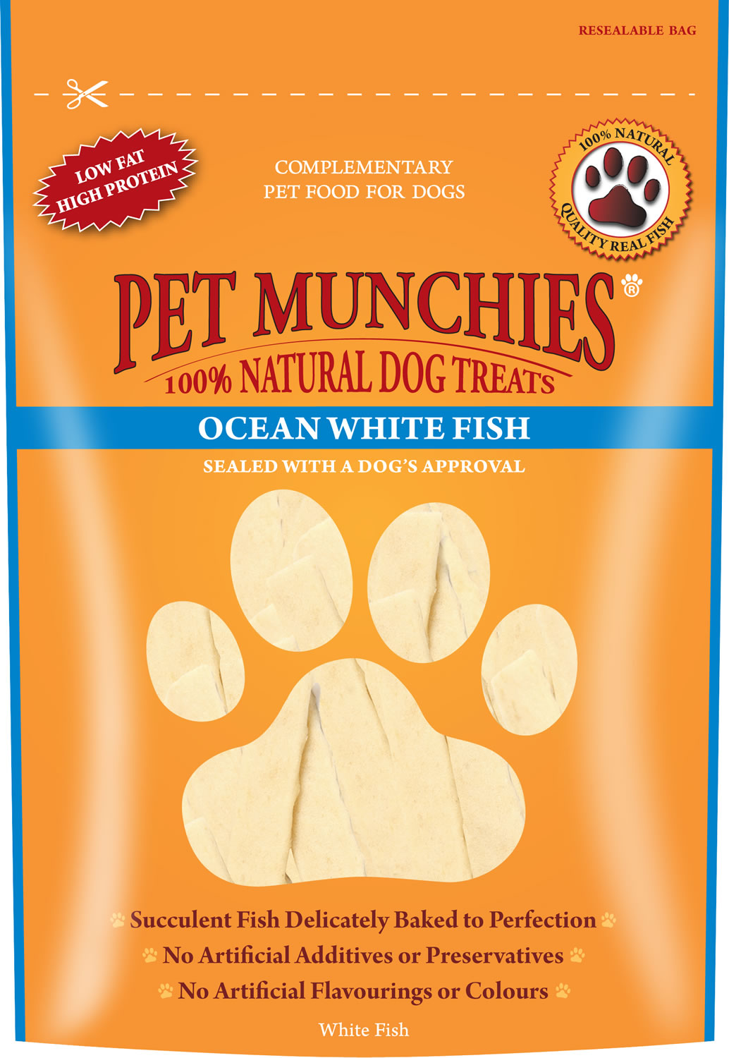 Pet Munchies Ocean White Fish 100 g