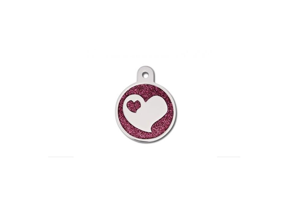 Coração Epoxy Rosa c/ Coração