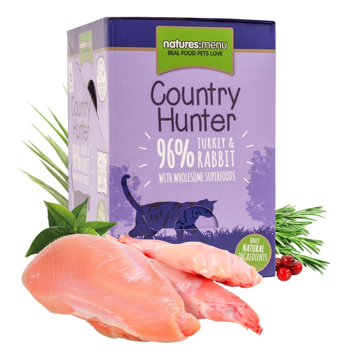 Country Hunter Turkey & Rabbit | 6 x 85 g