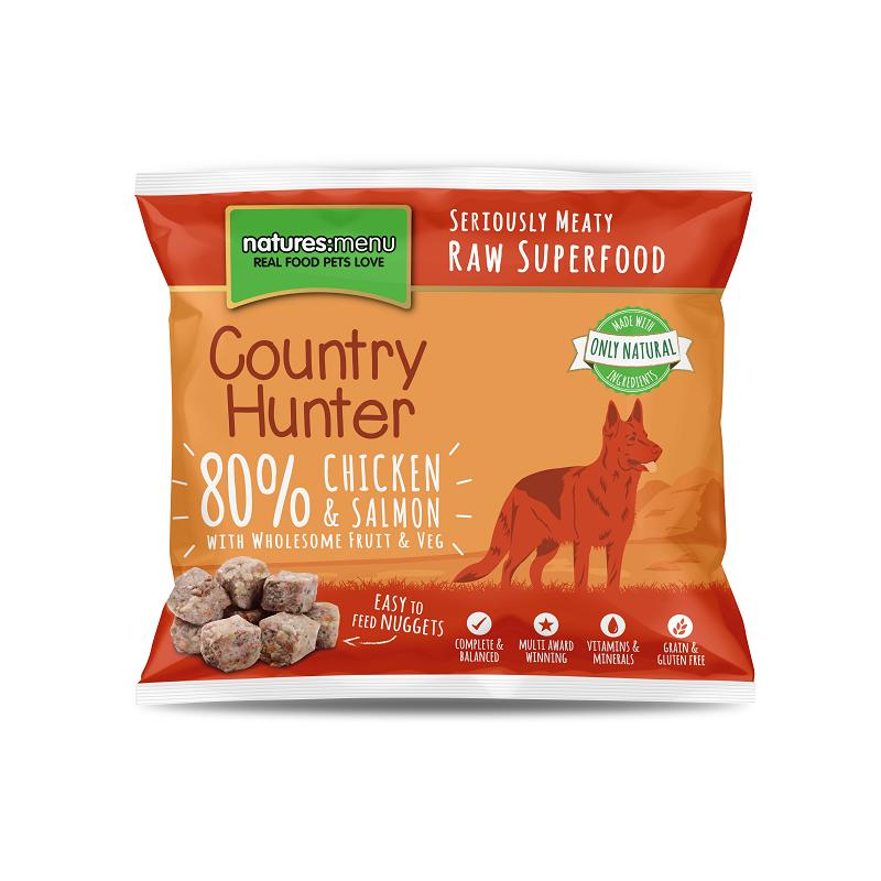 Country Hunter Cão / Nuggets congelados Frango com Salmão / Sem Cereais