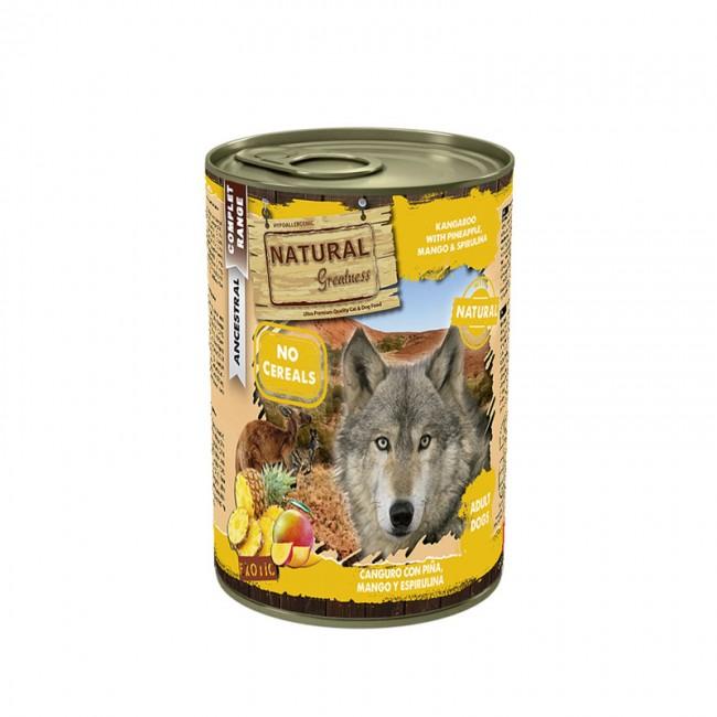 Natural Greatness Wet Dog Canguru com Ananás, Manga e Spirulina