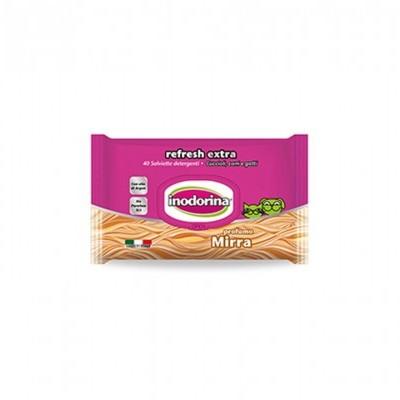 Inodorina Toalhetes Refresh Extra | Mirra | 40 Toalhetes