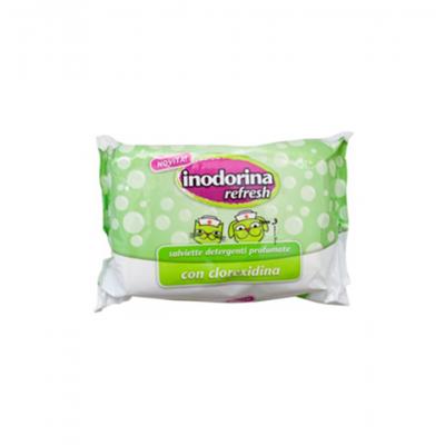 Inodorina Toalhete Refresh | Clorexidina | 40 Toalhetes