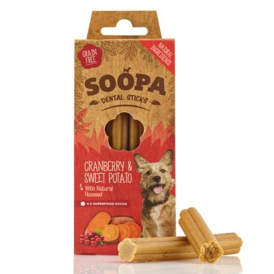 Soopa Dental Sticks: Mirtilho Vermelho & Batata Doce