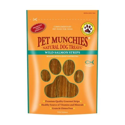 Pet Munchies Wild Salmon Strips 80 g