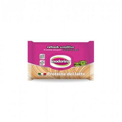 Inodorina Toalhetes Refresh Sensitive | Proteína de Leite | 40 Toalhetes