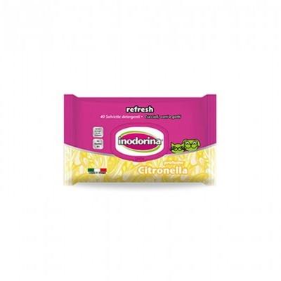 Inodorina Toalhetes Refresh | Citronella | 40 Toalhetes