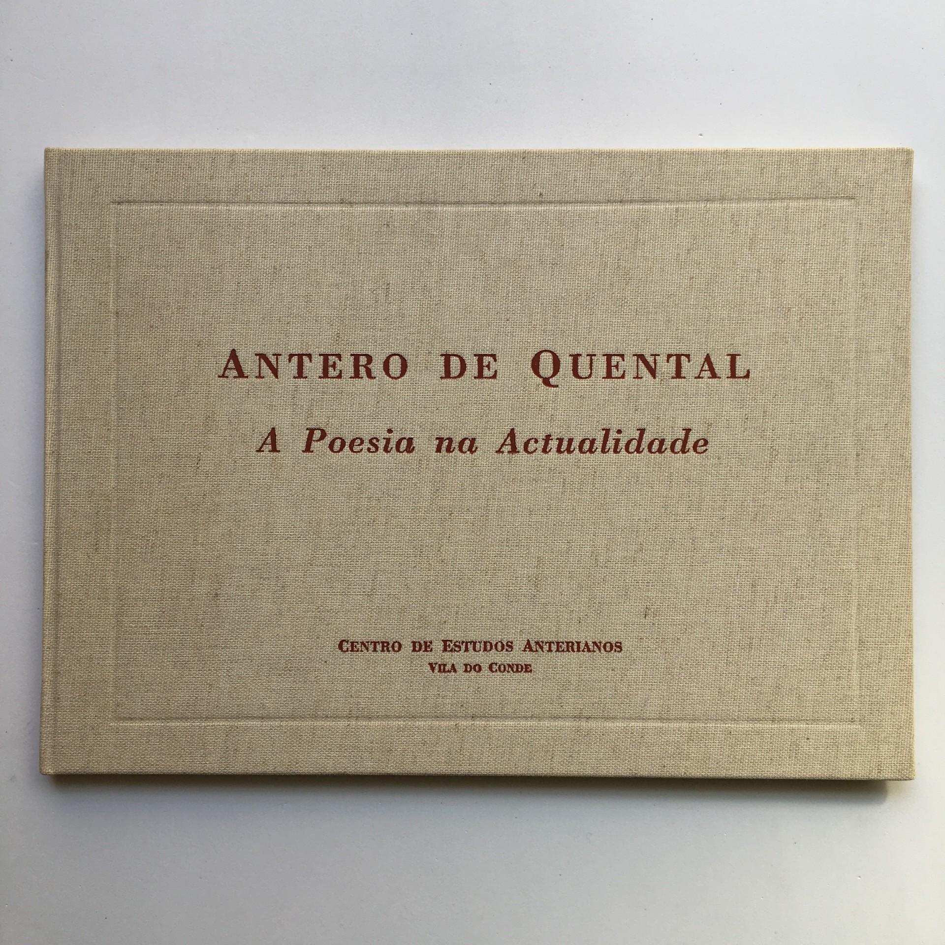Antero de Quental: a poesia na actualidade