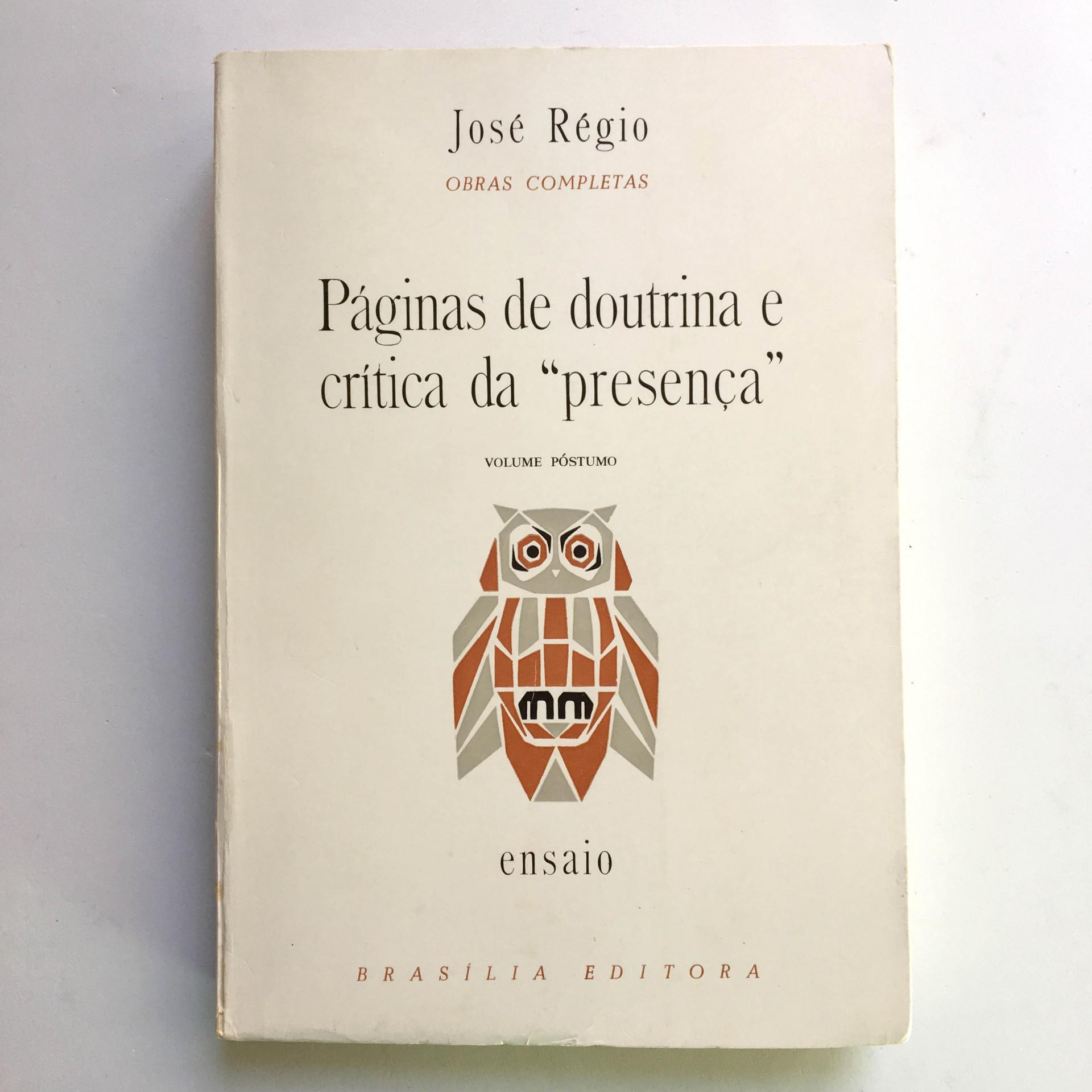"""Páginas de Doutrina e Crítica da """"Presença"""""""