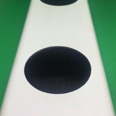 1 metro Perfil Hidropónico Furado de 80 mm