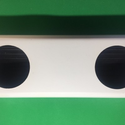 1 metro Perfil Hidropónico PVC Furado de 80 mm - Linhas Produção