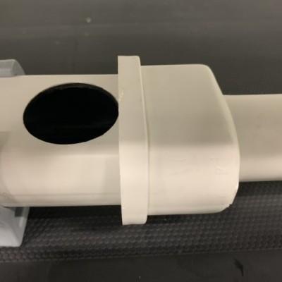 Topo c/ descarga Ø32 p/ perfil furado 49 mm