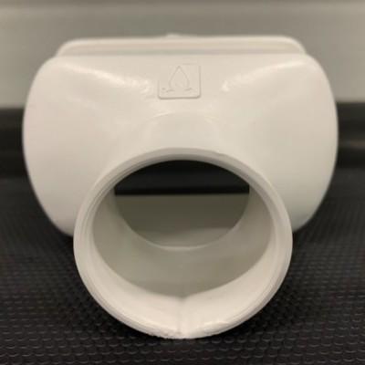 Topo c/ descarga Ø40 p/ perfil furado 80 mm