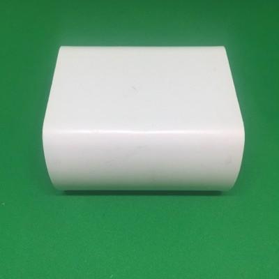 União PVC branco para perfil furado de 49 mm